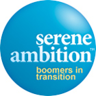 Serene Ambition logo gides to the Homepage